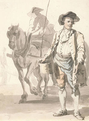 Man And His Horse Painting - London Cries - A Tinker And His Wife by Paul Sandby