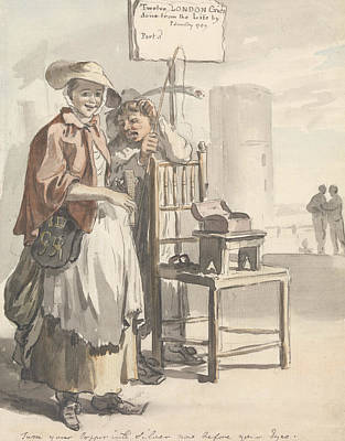 Painting - London Cries - Turn Your Copper Into Silver Now Before Your Eyes by Paul Sandby