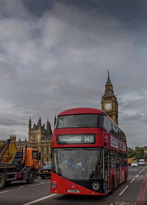 Photograph - London Double Decker by Georgia Fowler
