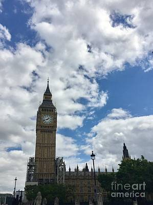 Photograph - London England  Big Ben by Suzanne Lorenz