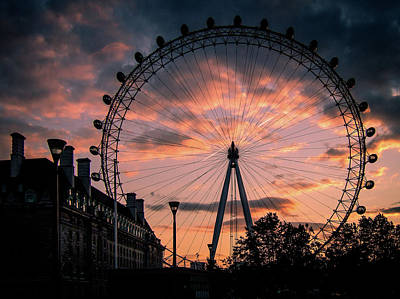 Photograph - London Eye #1 by Michael Niessen
