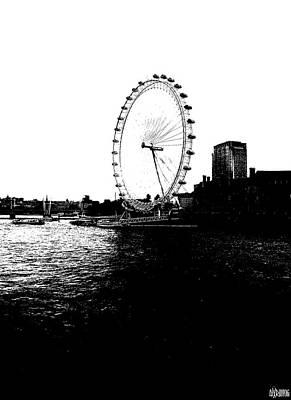 Black And White Photograph - London Eye by Alx Rutecki