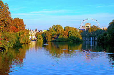 Photograph - London Eye And Palace by Haleh Mahbod