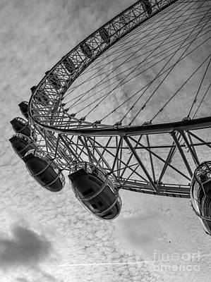 London Eye Photograph - London Eye by Anja Van Geert