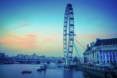 Photograph - London Eye At Dusk by Lana Enderle