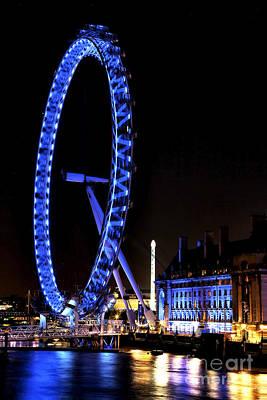 Photograph - London Eye Blues by John Rizzuto
