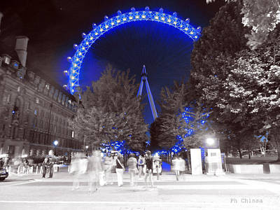London Eye Art Print by Sara Chin