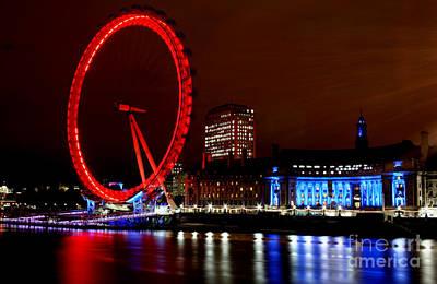 London Skyline Photograph - London Eye by Heather Applegate