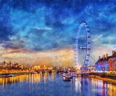 Photograph - London Eye by Ian Mitchell