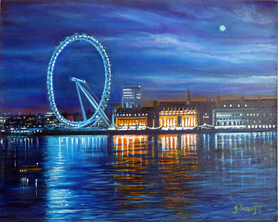 Painting - London Eye by Janet Silkoff