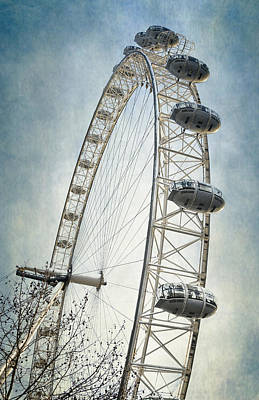 London Eye Photograph - London Eye by Joan Carroll
