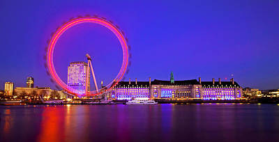 London Eye Art Print by Lucas Kelsch