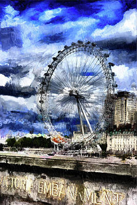 Digital Art - London Eye by Nicky Jameson