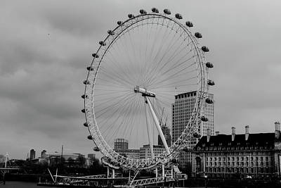 London Eye Oldskool Art Print by Saif Rehman