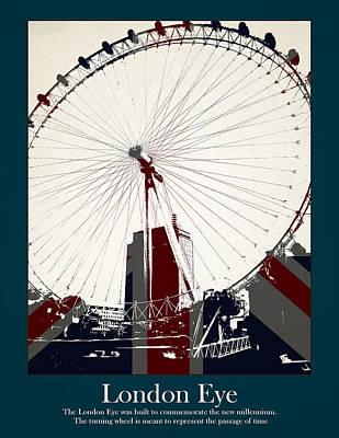 Phone Box Photograph - London Eye by Stephanie Hamilton