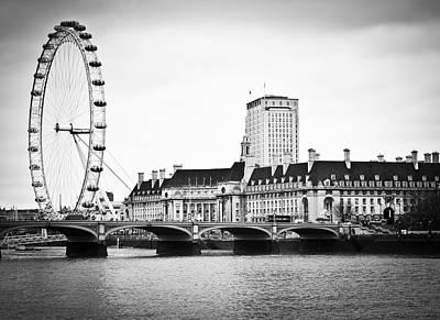 London Eye Art Print by Stuart Monk