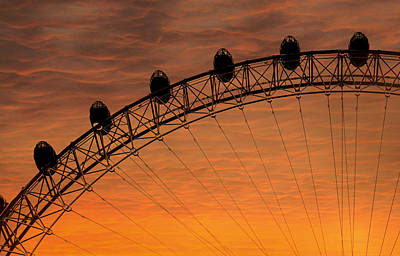 London Eye Sunset Art Print by Martin Newman
