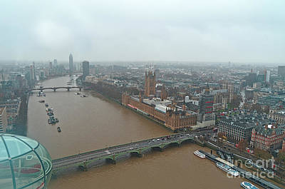 Photograph - London Eye View Over London by Angelo DeVal
