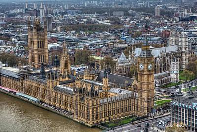 Photograph - London Eye View by Walt  Baker