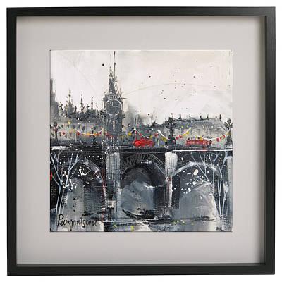 London Skyline Paintings - London Festive Nostalgia 4 by Irina Rumyantseva