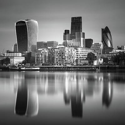 Financial Photograph - London Financial District by Ivo Kerssemakers
