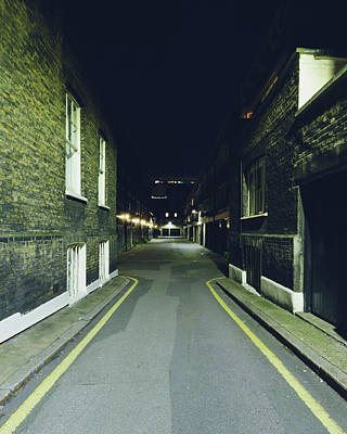Photograph - London Gower Mews By Night A by Jacek Wojnarowski