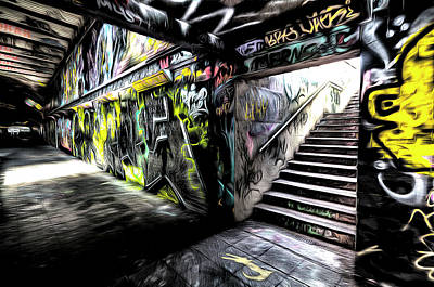 Photograph - London Graffiti Art by David Pyatt