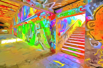 Photograph - London Graffiti Pop Art by David Pyatt