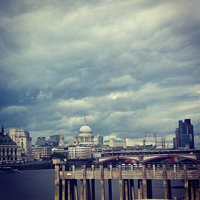 London Skyline Photograph - London I Love You.  #skyline #sky by Julie Featherstone