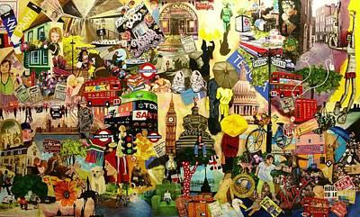 Cambridge Mixed Media - London by Jacqui Simpson