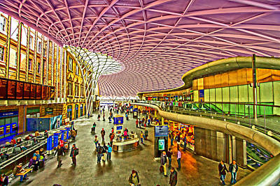 Photograph - London Kings Cross Station by David French