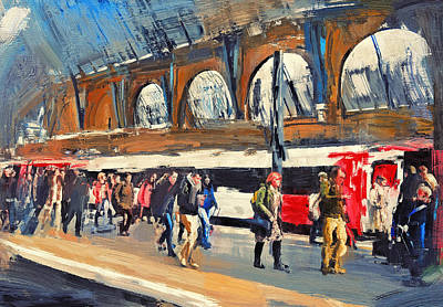 London Kings Cross Station Art Print