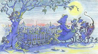 London Lay Before Us Art Print by Yvonne Ayoub