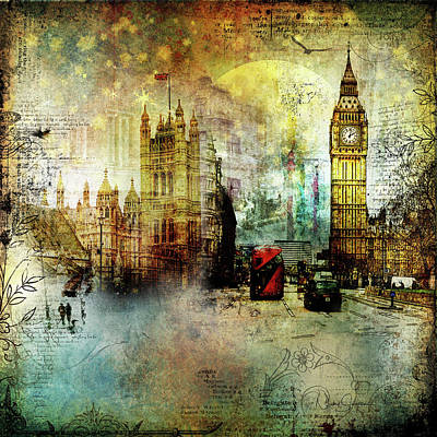 Digital Art - London Lights by Nicky Jameson