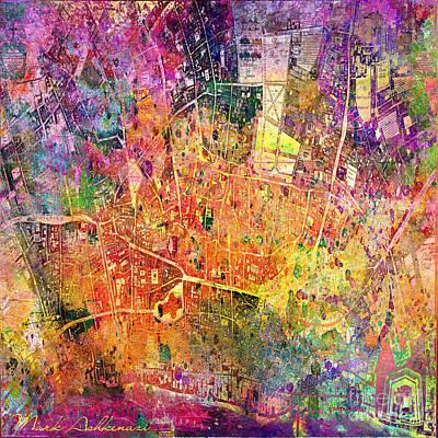 New York City Map Digital Art - London Map Abstract  by Mark Ashkenazi