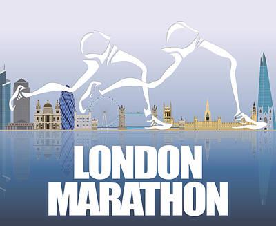 Berlin Mixed Media - London Marathon 1 by Joe Hamilton
