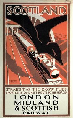 Mixed Media - London Midland And Scottish Railway - Scotland - Retro Travel Poster - Vintage Poster by Studio Grafiikka
