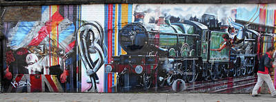 Photograph - London Mural by Phil Dynan