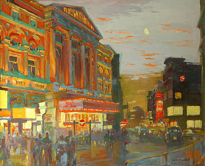 Storefront Painting - London Night  by William Ireland