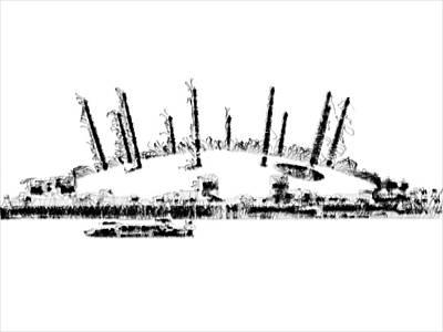 London O2 Arena Art Print