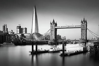 London, Old And New, Bw Print by Ivo Kerssemakers