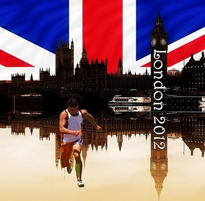 London Olympics 2012 Print by Sharon Lisa Clarke