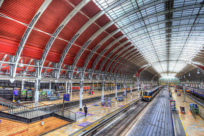 Photograph - London Paddington Railway Station  by David Pyatt