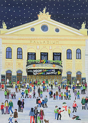 Crowds Painting - London Palladium   Joesph by Judy Joel