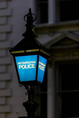 London Police Lamp Art Print