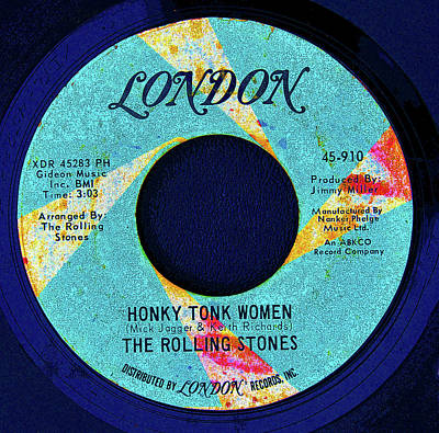 Digital Art - London Record's And The Stones by David Lee Thompson
