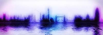 Painting - London River Thames by Mark Taylor