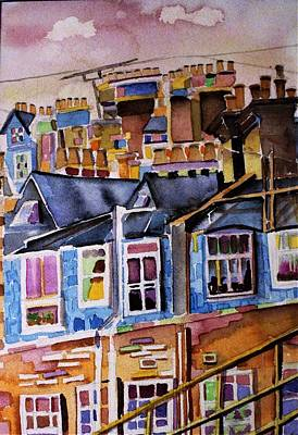 Antennae Painting - London Rooftops by Mindy Newman