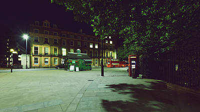 Photograph - London Russell Square By Night B by Jacek Wojnarowski