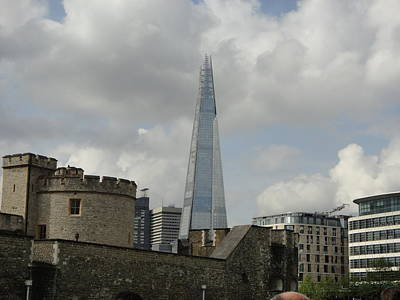 Photograph - London Shard And Tower by Christina Schott